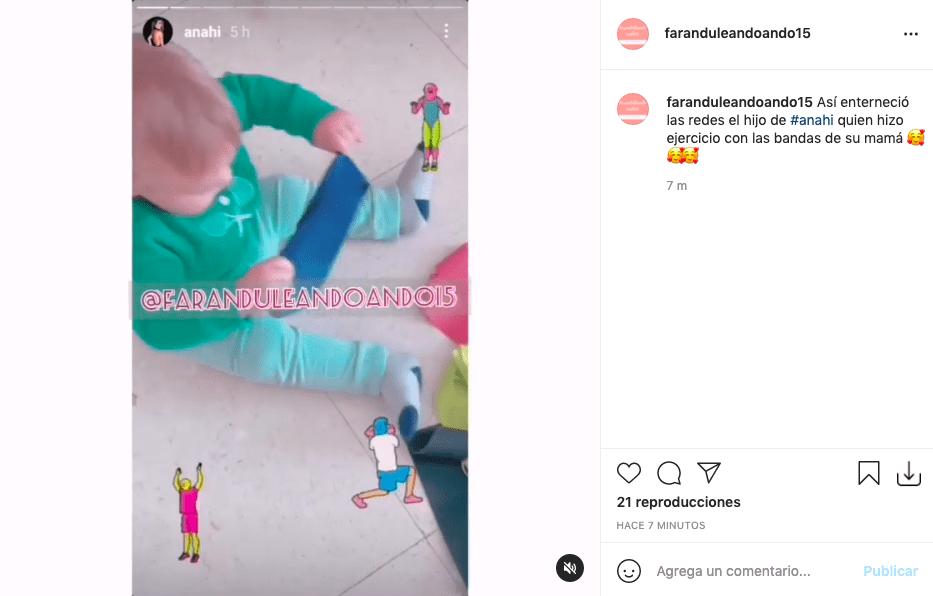 Anahí enternece a sus fans tras mostrar rutina de ejercicios de su bebé