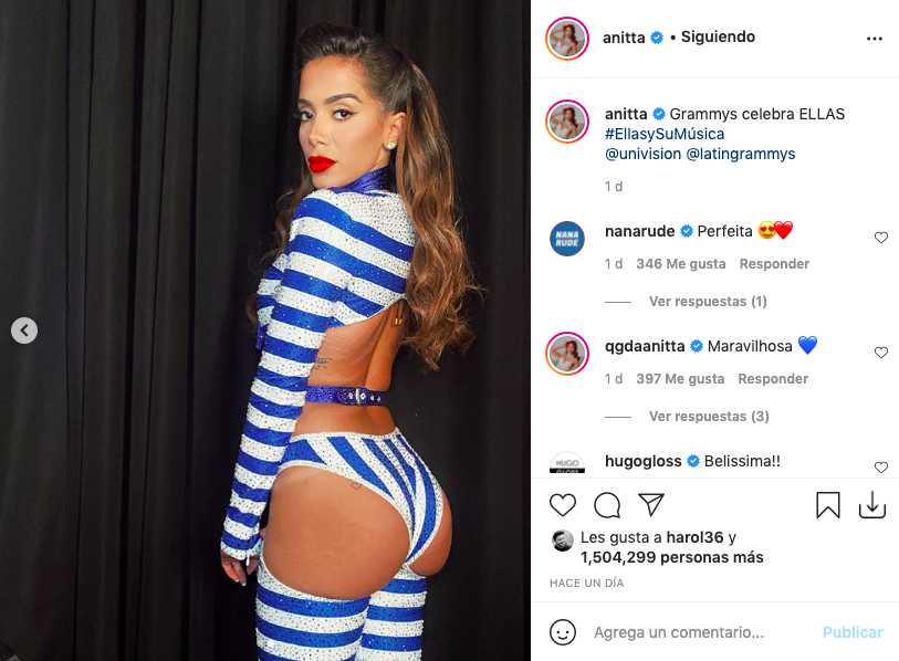 Anitta enamoró con atuendo en el que presumió de su cola