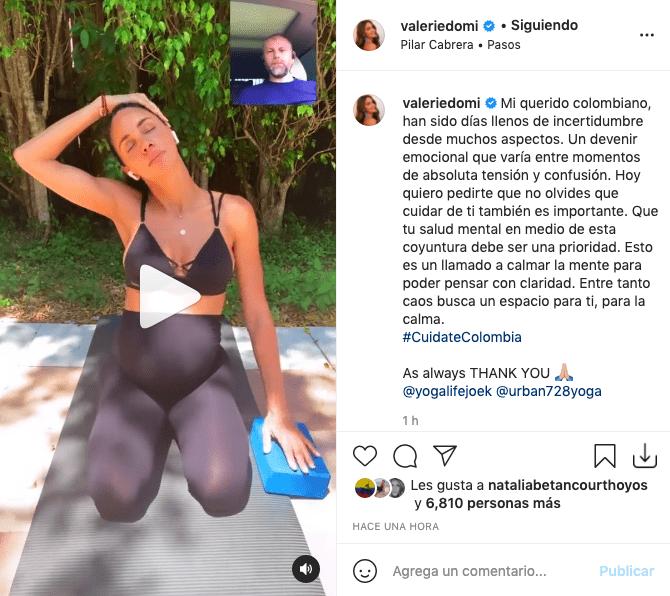 Valerie Domínguez enamora tras hacer rutina de yoga luciendo su pancita