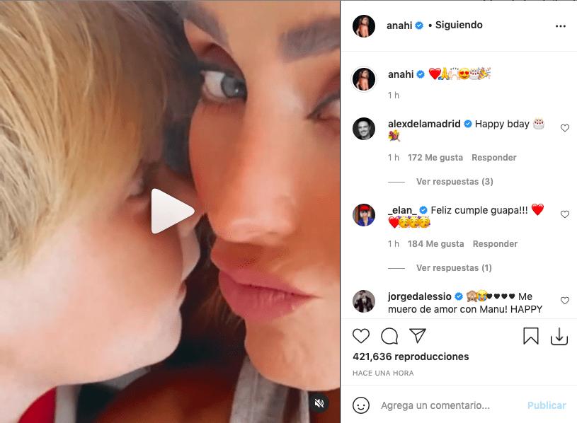 Anahí cautiva a fans tras mostrar a su hijo cantándole el cumpleaños