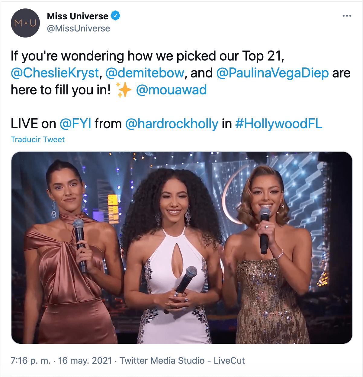 Paulina Vega experta miss universo