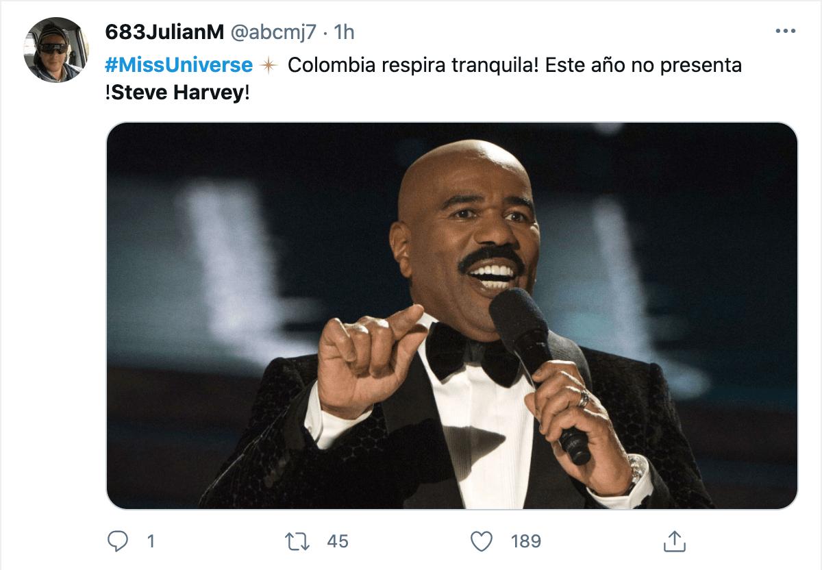 Miss Universo memes Steve Harvey
