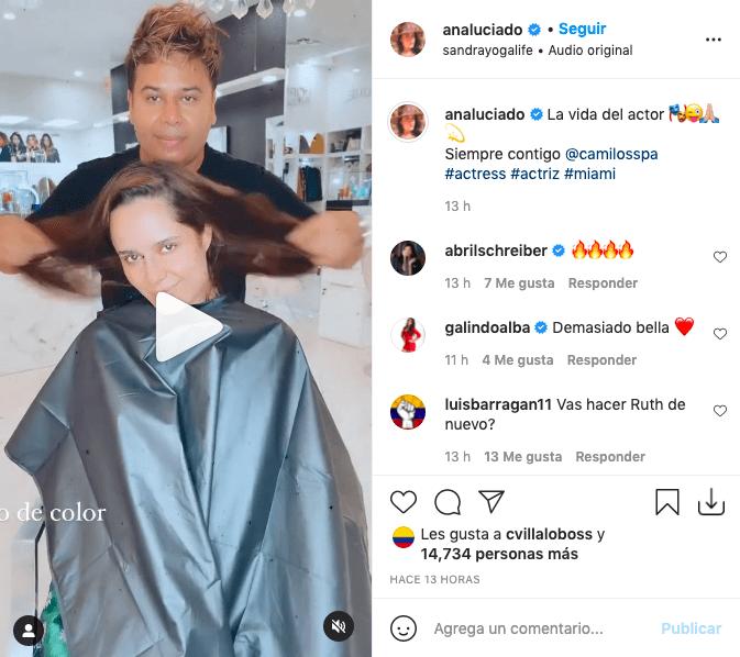 Ana Lucía Domínguez mostró corto video y en él, su cambio de look