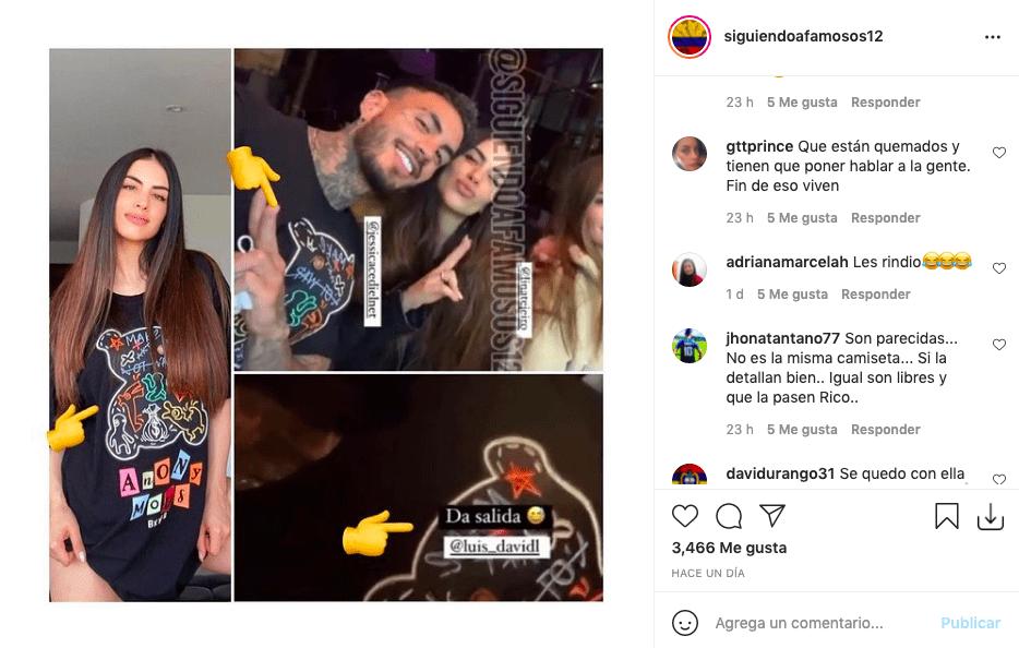 Jessica Cediel usó la que sería la camiseta de Mateo Carvajal y causó revuelo