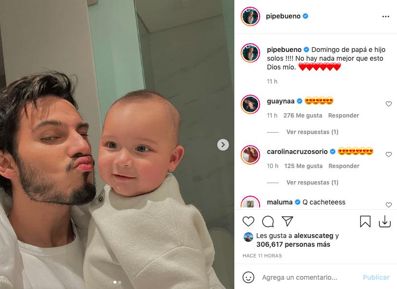 Pipe Bueno compartió tiernas fotos junto a su hijo Máximo
