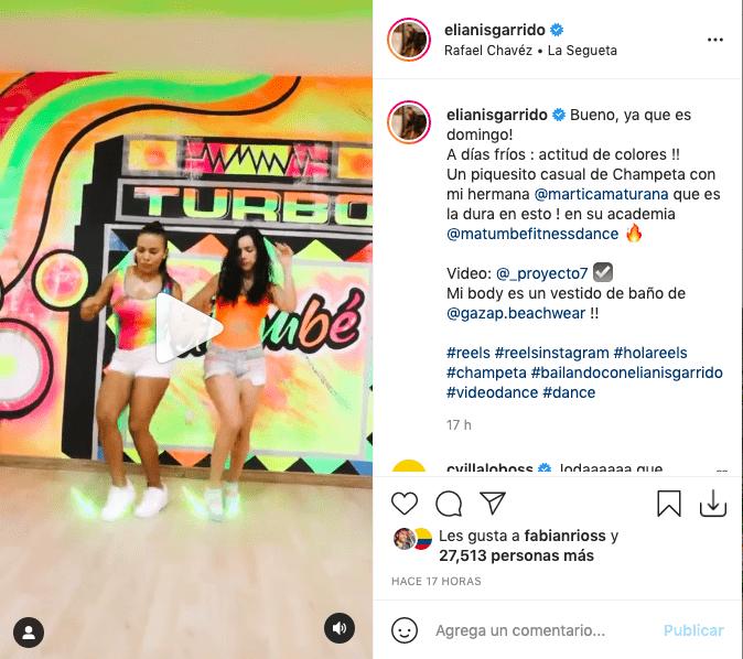 Elianis Garrido presumió de sus piernas bailando champeta con corto short