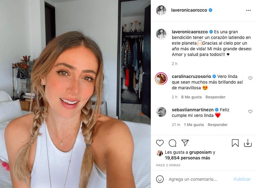 Verónica Orozco se mostró sin una gota de maquillaje en su cumpleaños