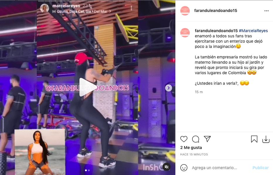 Marcela Reyes se ejercitó con ajustado body y elevó la temperatura