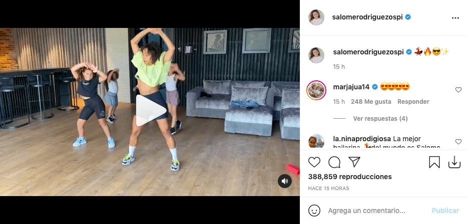 Salomé Rodríguez mostró sus dotes de bailarina profesional y cautivó a fans