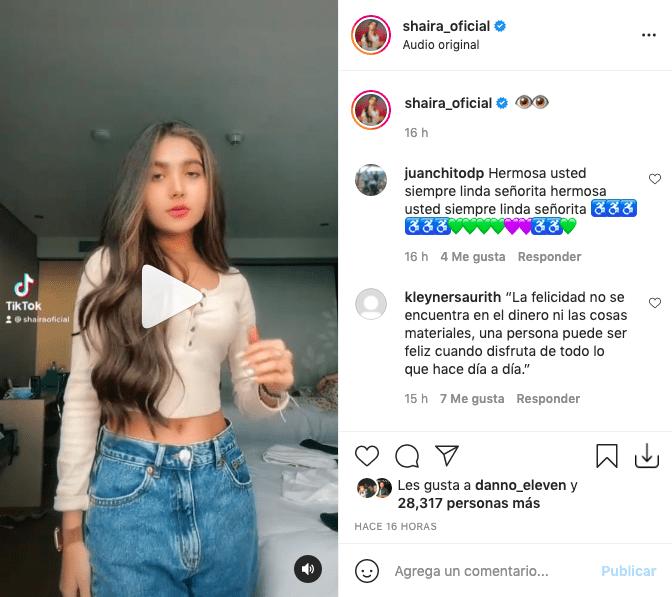 Shaira Peláez enamora a fans con atractivos movimientos de cadera