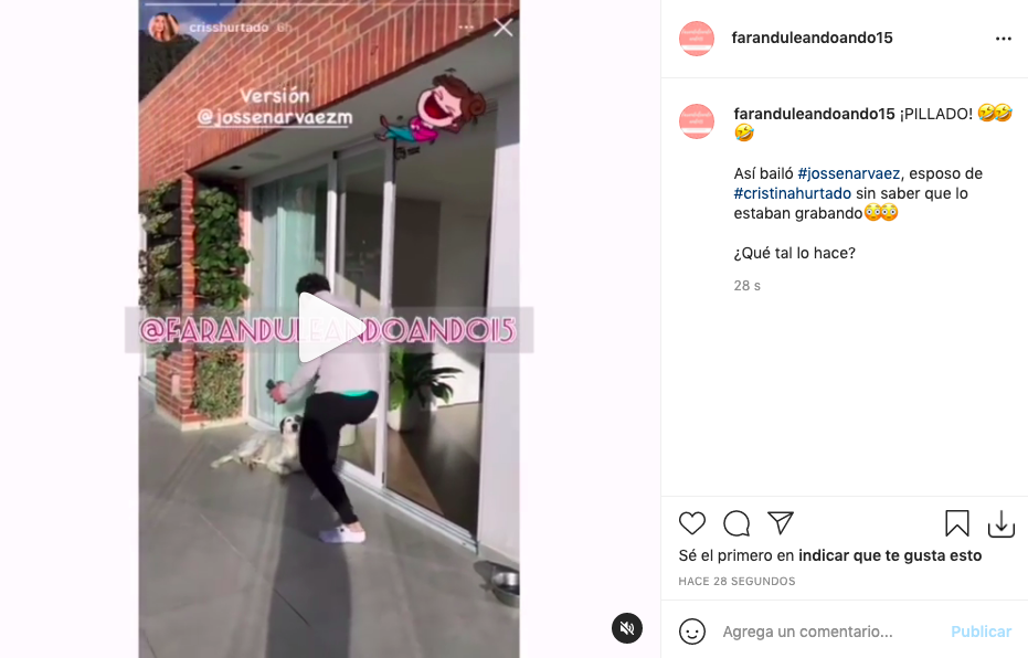 Josse Narváez es grabado sin querer haciendo video que recreó Lina Tejeiro