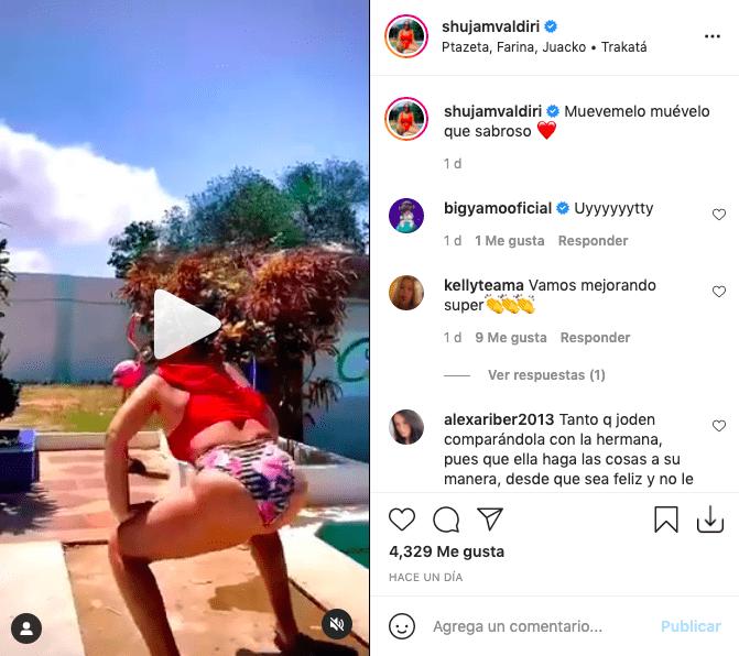 Hermana de Andrea Valdiri enamoró haciendo twerking en ajustado bikini
