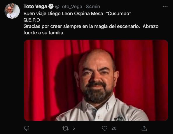 Diego León Ospina, Cusumbo: así reaccionaron algunos amigos y colegas tras su partida