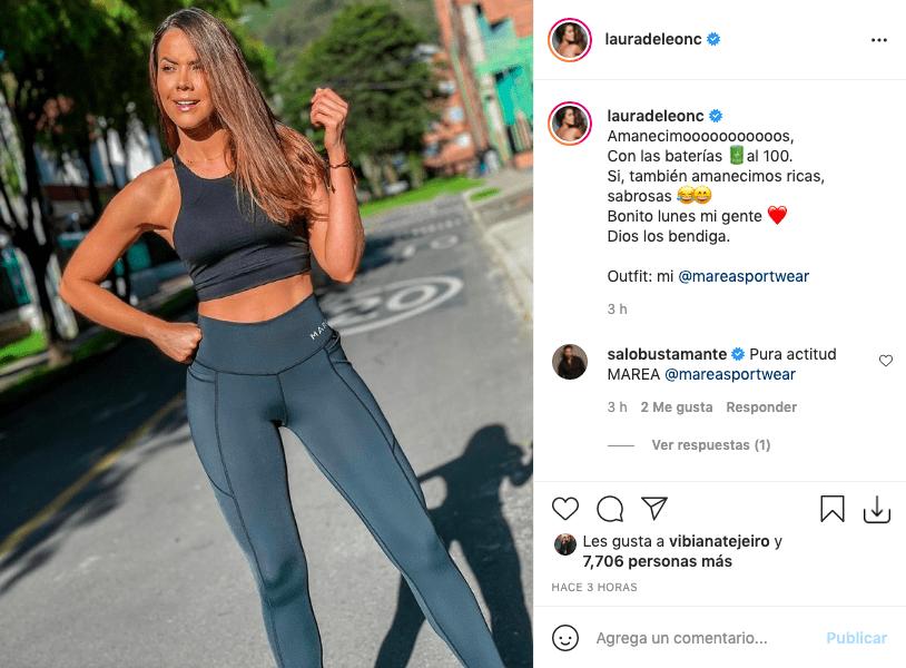 Laura de León eleva la temperatura con ajustado atuendo deportivo