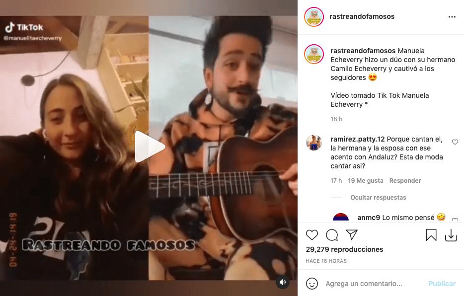 Hermana de Camilo cautivó tras cantar con su hermano en video