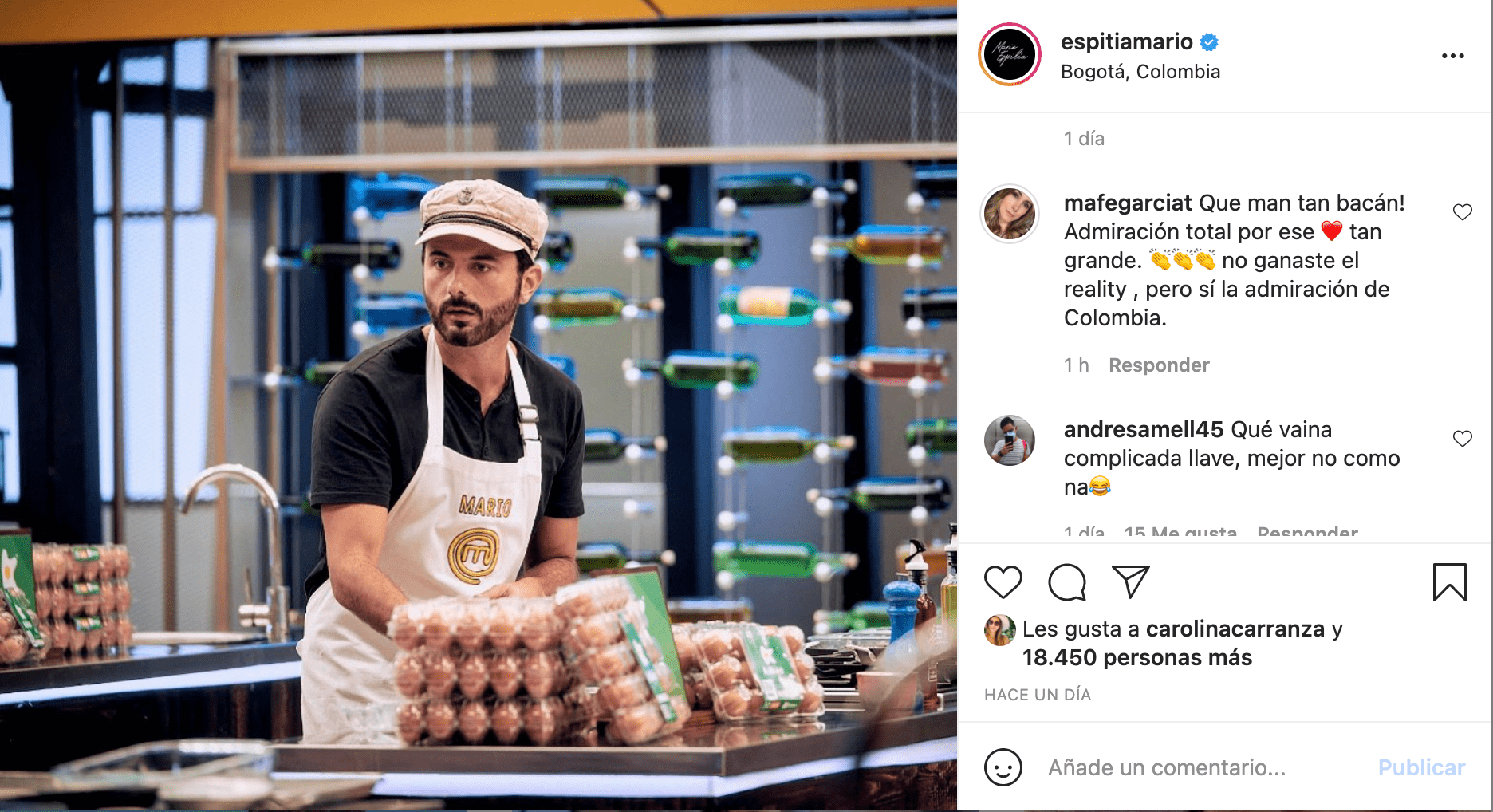 salida de Mario Espitia