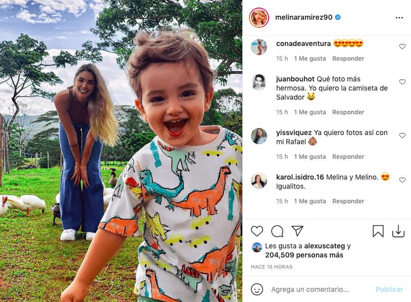Melina Ramírez y la tierna postal en la que su hijo enamoró a fans