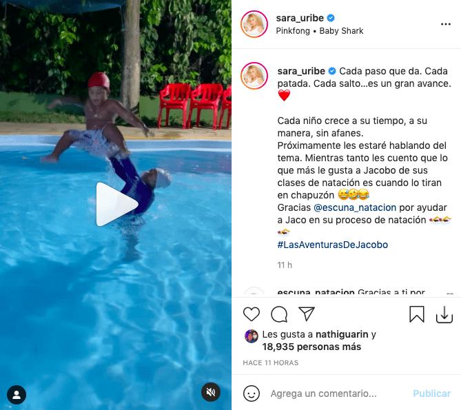 Sara Uribe cautiva a fans tras mostrar un nuevo talento de su hijo