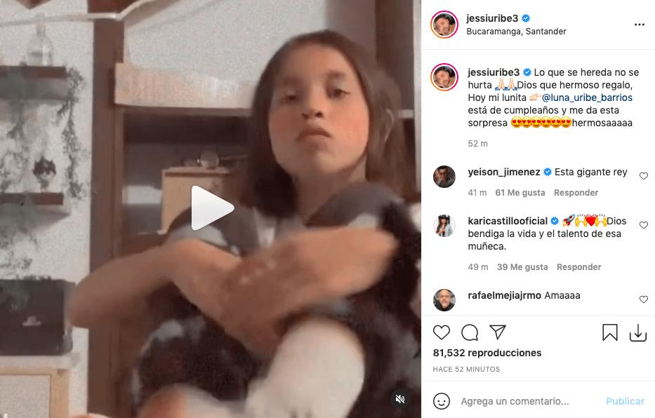 Jessi Uribe muestra con orgullo la voz que le heredó una de sus hijas