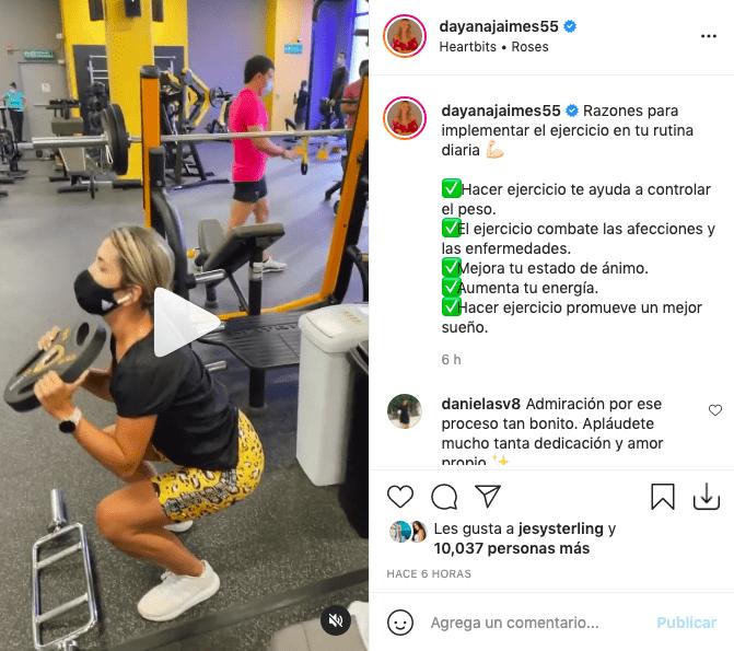Dayana Jaimes enamora con su delgada figura tras hacer ejercicio