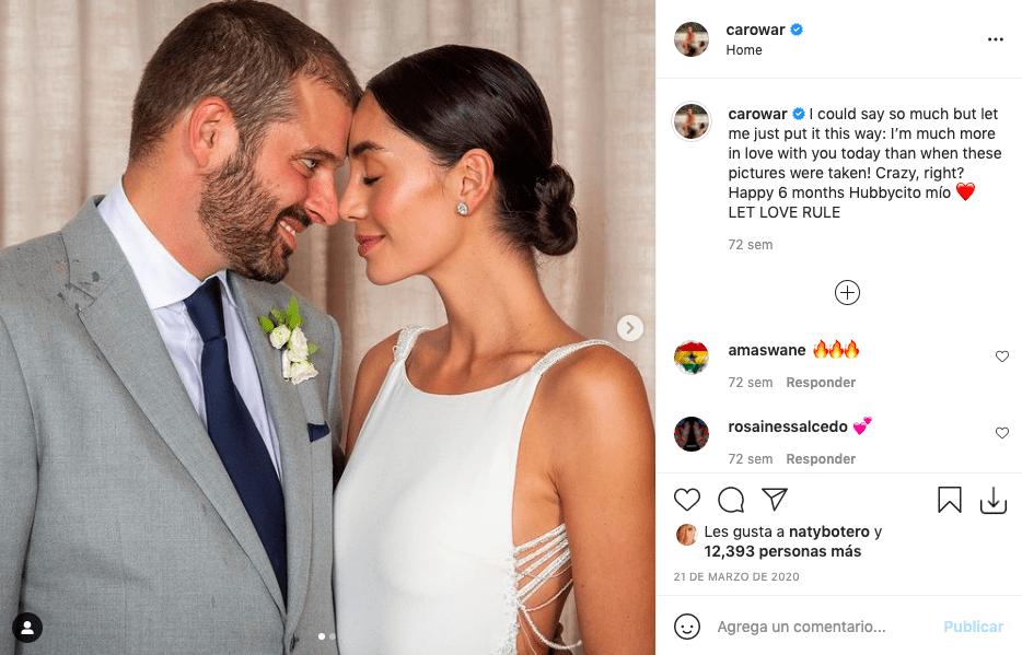 Carolina Guerra y su esposo estarían esperando su primer hijo