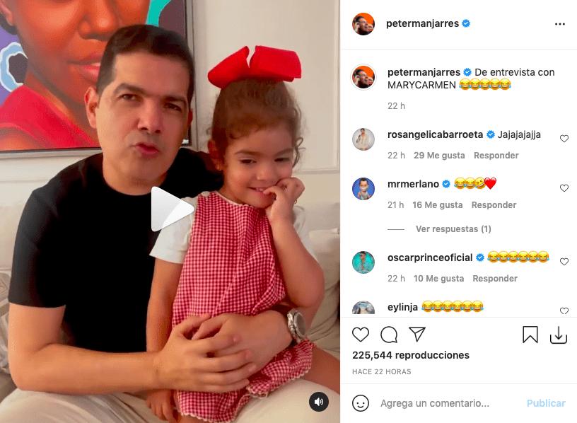 """Así reacciona Peter Manjarrés tras saber que una de sus hijas tiene """"novio"""""""