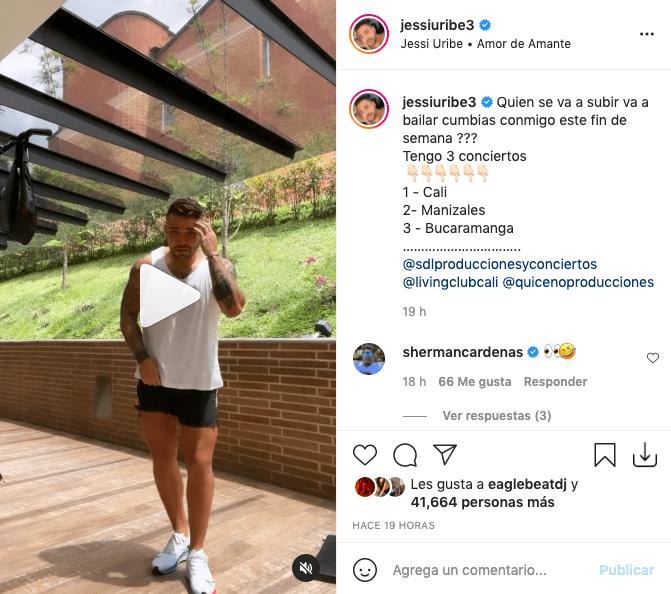Jessi Uribe lleva miradas a sus piernas tras bailar 'Amor de Amante'