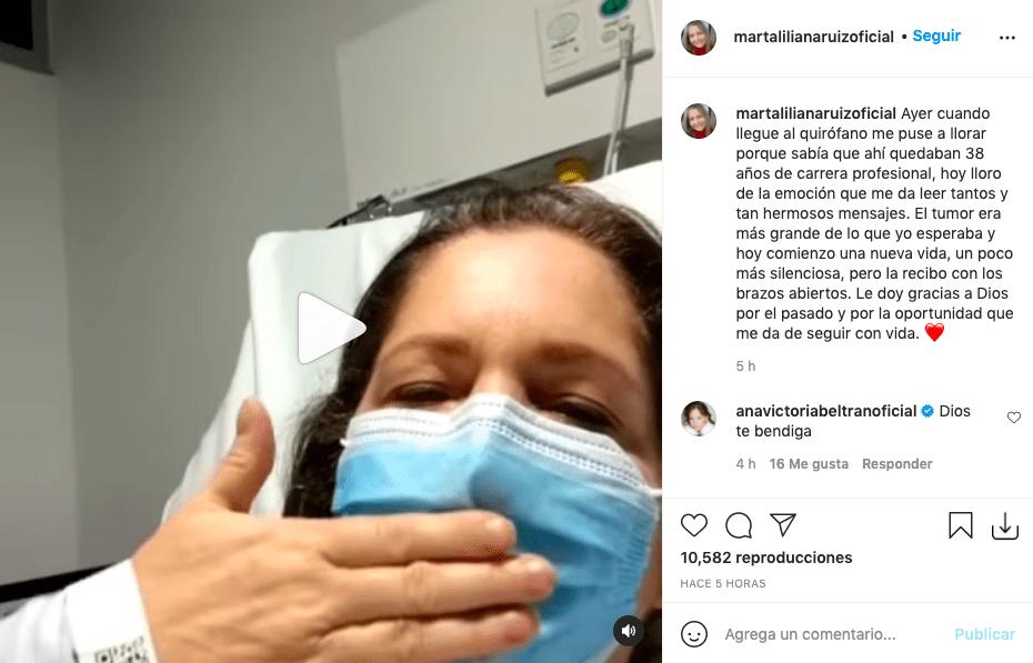 Marta Liliana Ruiz se pronuncia por primera vez tras ser intervenida