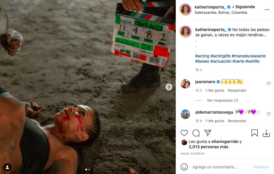Las fotos de Katherine Porto estando tendida en el piso que preocuparon a fans