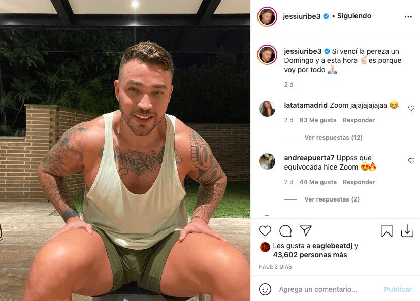 Jessi Uribe y la foto a la que fans le hicieron zoom a su entrepierna