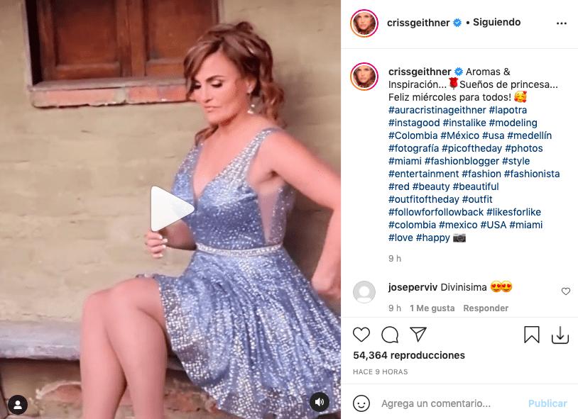 Aura Cristina Geithner enamoró tras posar con vestido de princesa