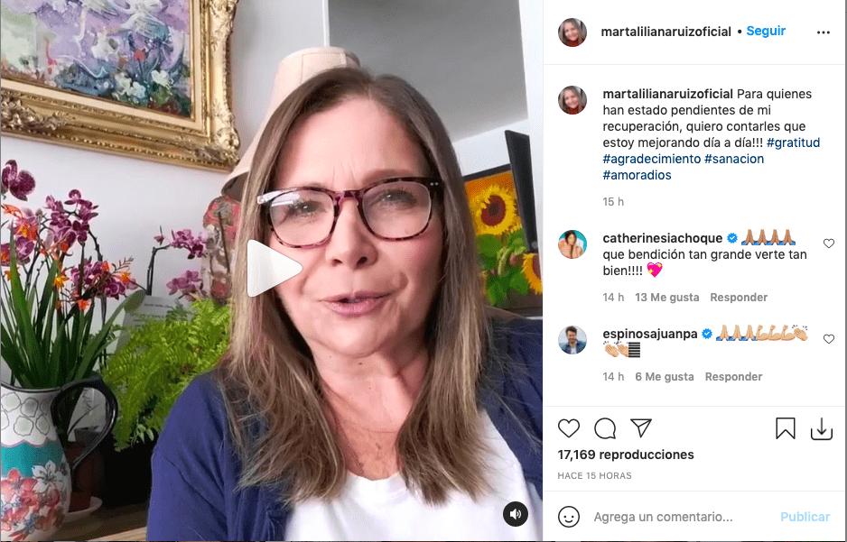 Marta Liliana Ruiz habla por primera vez tras su cirugía de lengua