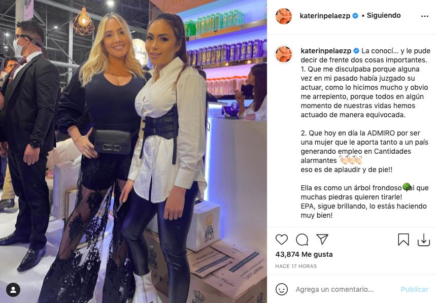 Katerin Peláez pidió disculpas a Epa Colombia y dedicó sentido mensaje