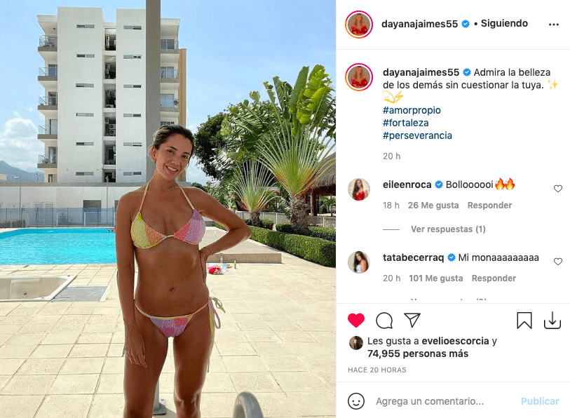 Dayana Jaimes deleitó posando al lado de la piscina en bikini
