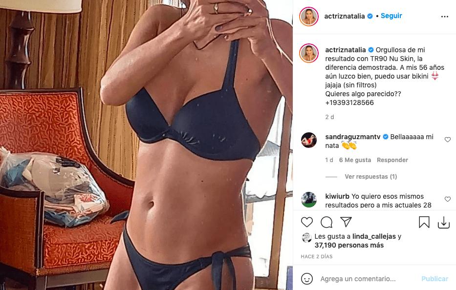 Natalia Ramírez posa a sus 56 años en bikini y deslumbra a fans