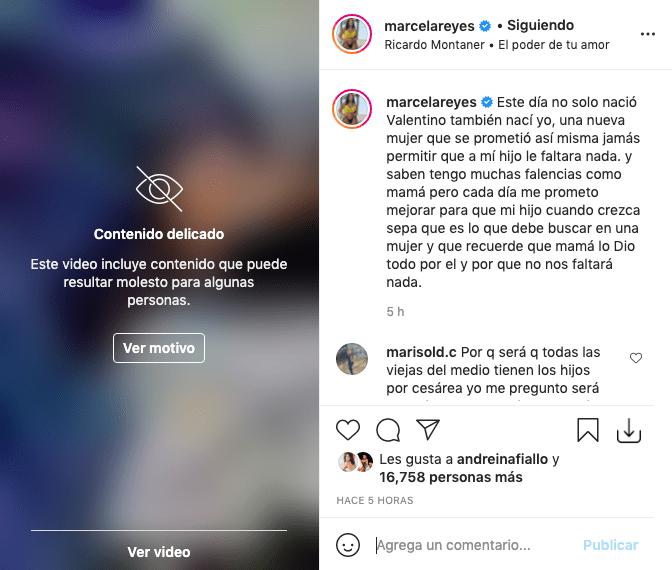 Marcela Reyes reveló impactantes imágenes de lo que fue su parto