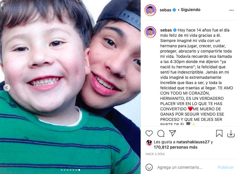 Sebastián Villalobos y su hermano menor enamoraron en redes