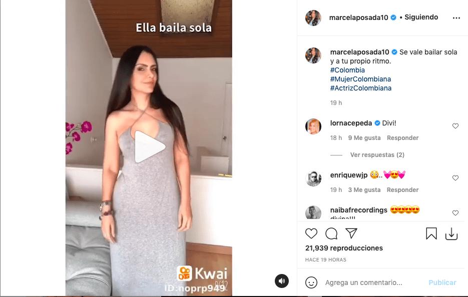Marcela Posada deslumbra bailando con ajustado vestido y enamora a fans