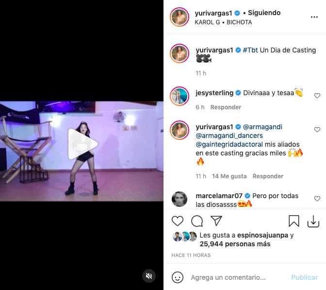Yuri Vargas publicó atractivo video bailando al ritmo de Karol G