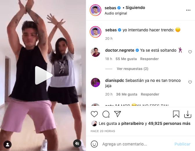 Sebastián Villalobos cautivó con sus pasos al ritmo de Karol G