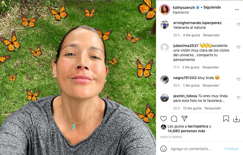 Kathy Sáenz y la foto sin maquillaje que asombró a más de uno