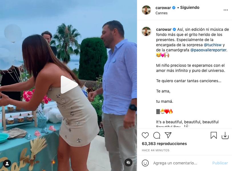 Con emotivo video, Carolina Guerra reveló el sexo de su bebé