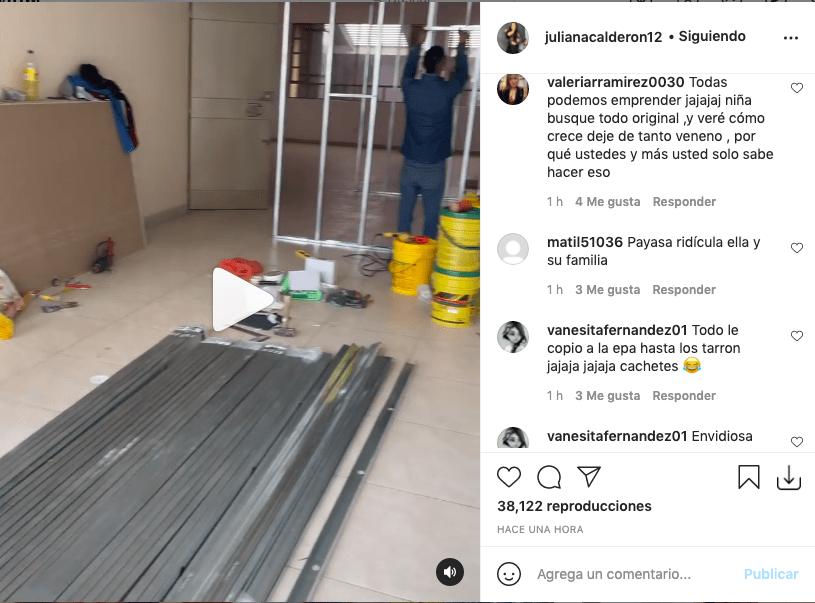 Juliana Calderón muestra su nuevo local y le llueven críticas