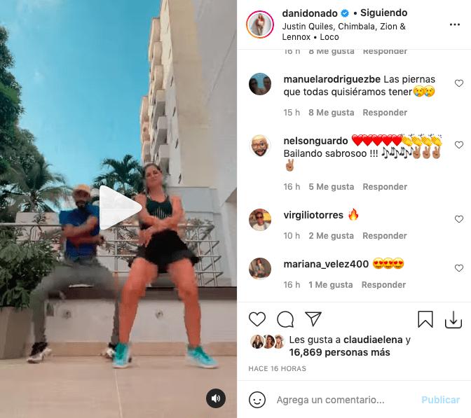 Daniella Donado enamoró bailando champeta con corto vestido