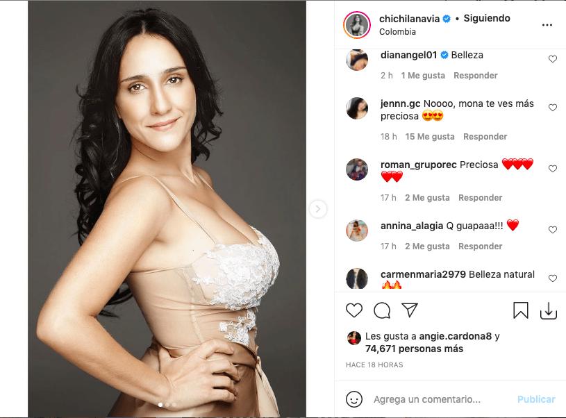 Chichila Navia posa con ajustado body y comparte antiguo look