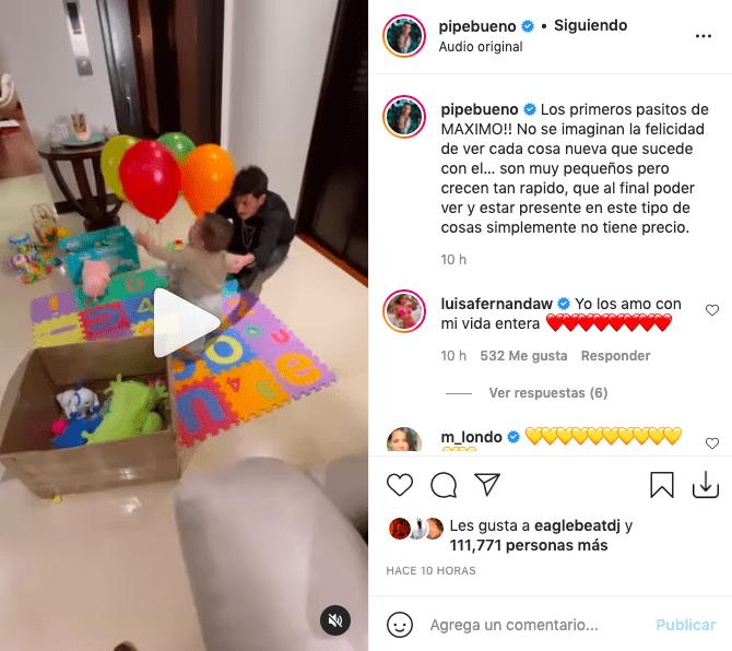 Pipe Bueno enamoró tras dejar ver lo que hizo su hijo por primera vez