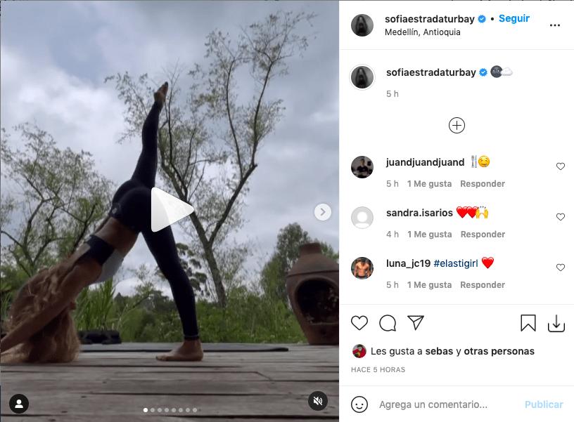 Hija de Paola Turbay sorprende en video con su extrema elasticidad