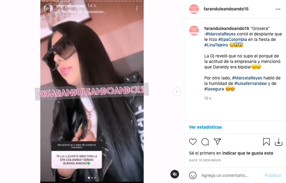 Marcela Reyes tildó a Epa Colombia de grosera por desplante en fiesta de Lina Tejeiro