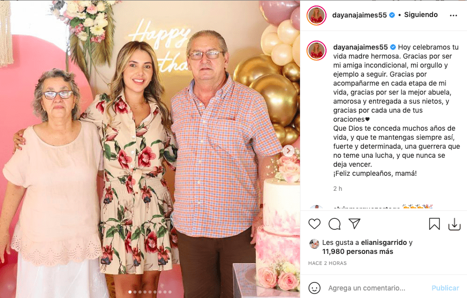 Dayana Jaimes dedicó amoroso mensaje en cumpleaños de su mamá