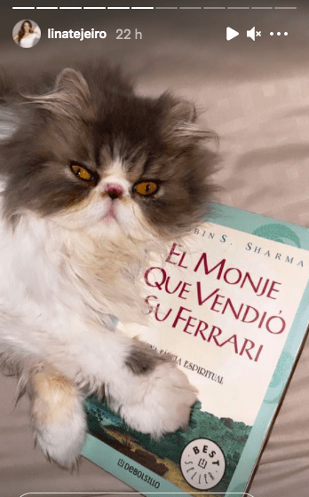Lina Tejeiro y el libro que recomendó para sus seguidores/ @Linatejeiro